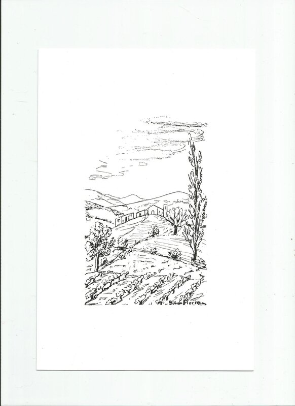 Dessin d'un paysage