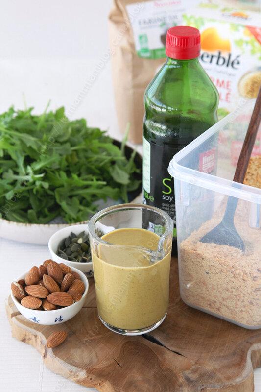 Sauce salade vegan healthy, sans huile et riches en nutriments