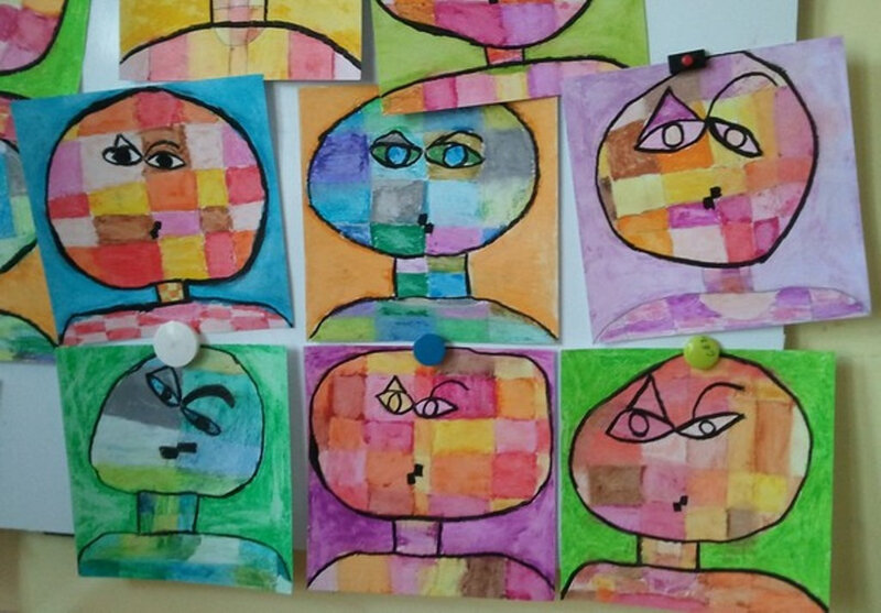 5-Chaud Froid-Portraits inspiration Paul Klee (55)