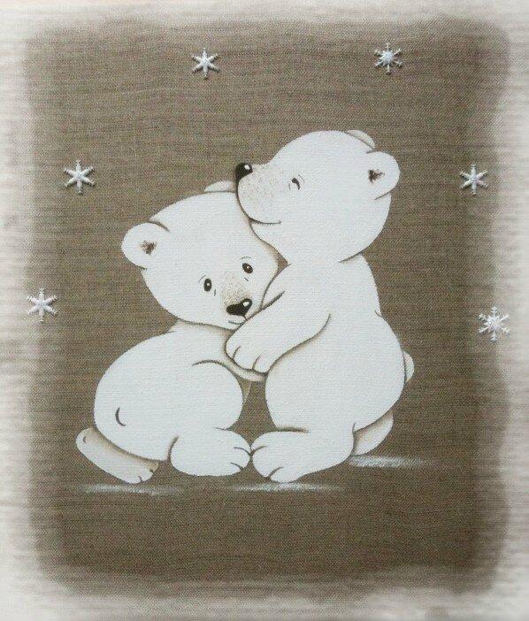 tableau-enfant-duo-oursons-polaires