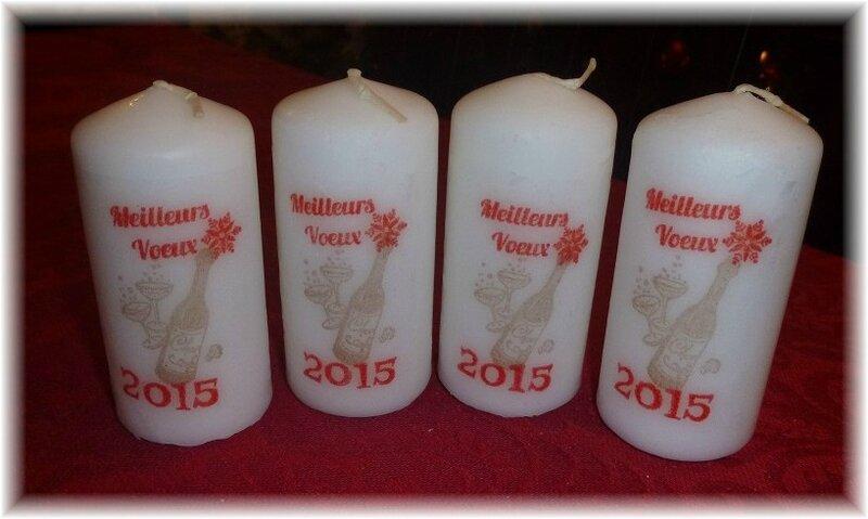 bougies nouvel an 2015