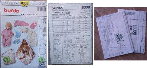 POCHETTE PATRON BURDA 8306