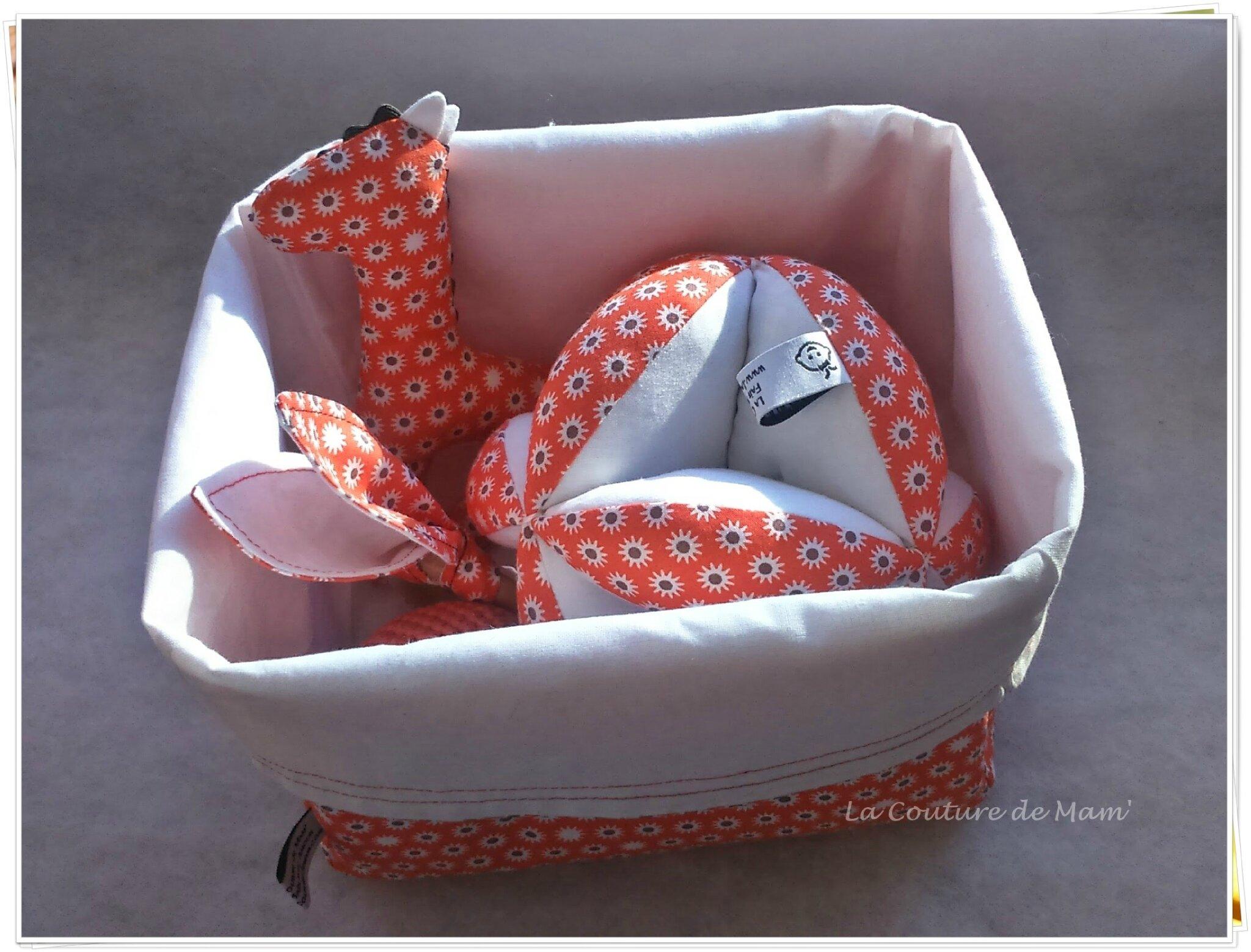 Ma box cadeau de naissance bébé orange