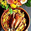 Poulet rôti et légumes au four