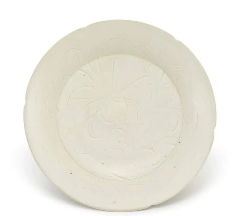 A carved Dingyao 'Lotus' dish, Northern Song dynasty (960-1127)