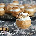 Choux chantilly-tonka
