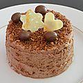 Mousse chocolat au pralin