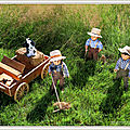 Faire les foins, ça donne faim ! - harvesting hay, it makes you hungry !
