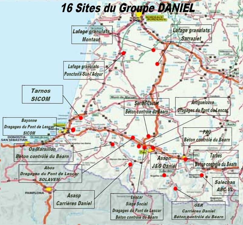 16 Sites du Groupe Daniel