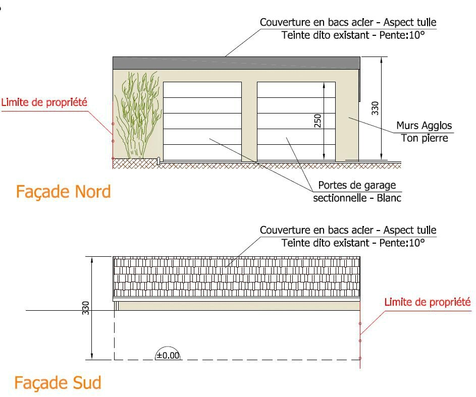 R alisation d 39 un garage r alisation des plans de plan b for Construire un garage attenant a la maison