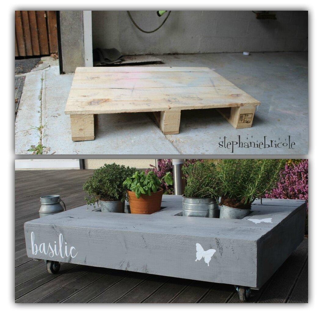 Transformation Palette En Jardiniere diy écolo - une table jardinière ou apéro ? en palette