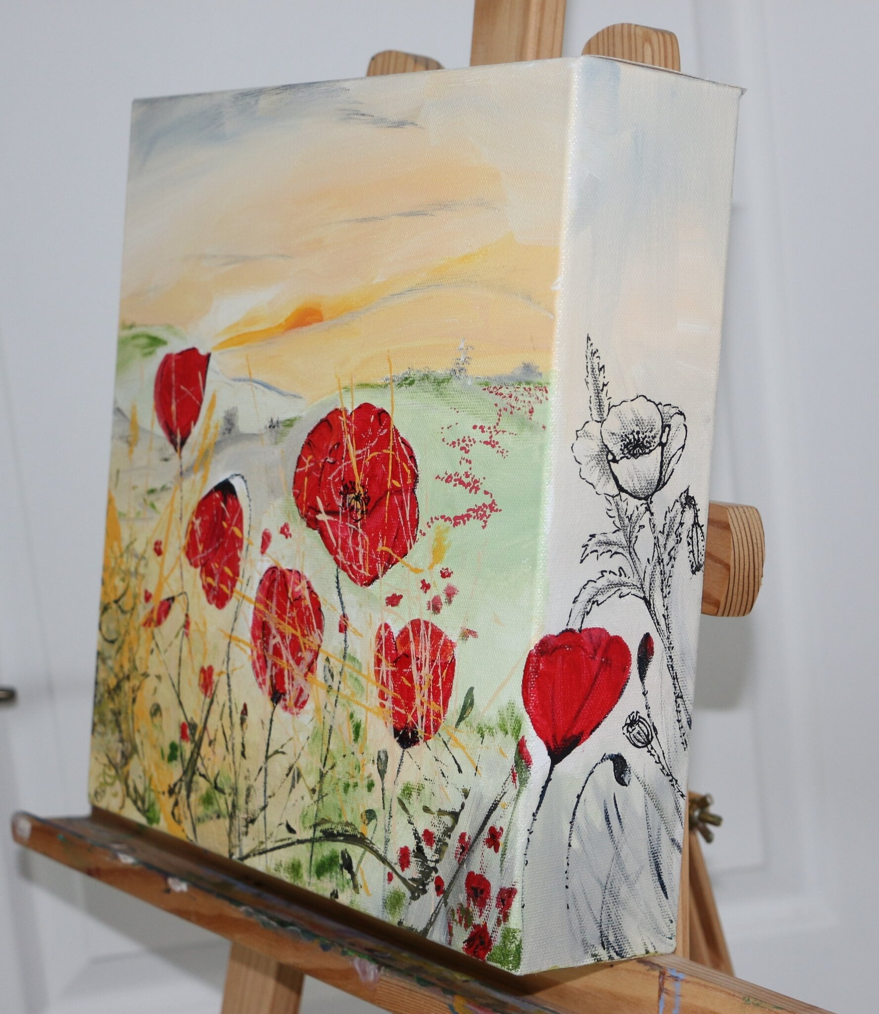 Coquelicot 3D- acryl 2016- 30X30cm - (ND)