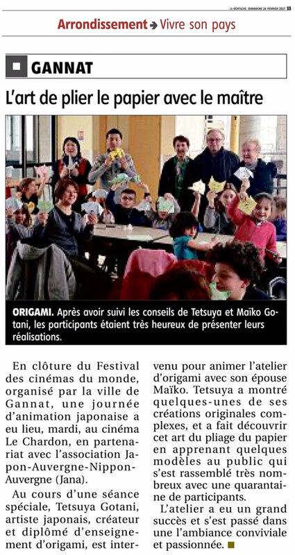 article journal La Montagne Gannat 26022017