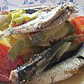 Pomme de terre aux sardines au four