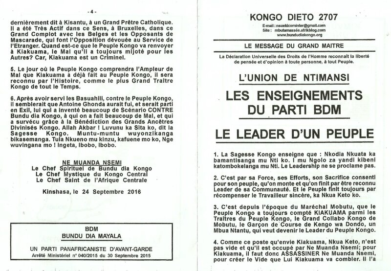 LE LEADER D'UN PEUPLE a