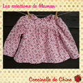 Blouse en Liberty babycord Ella
