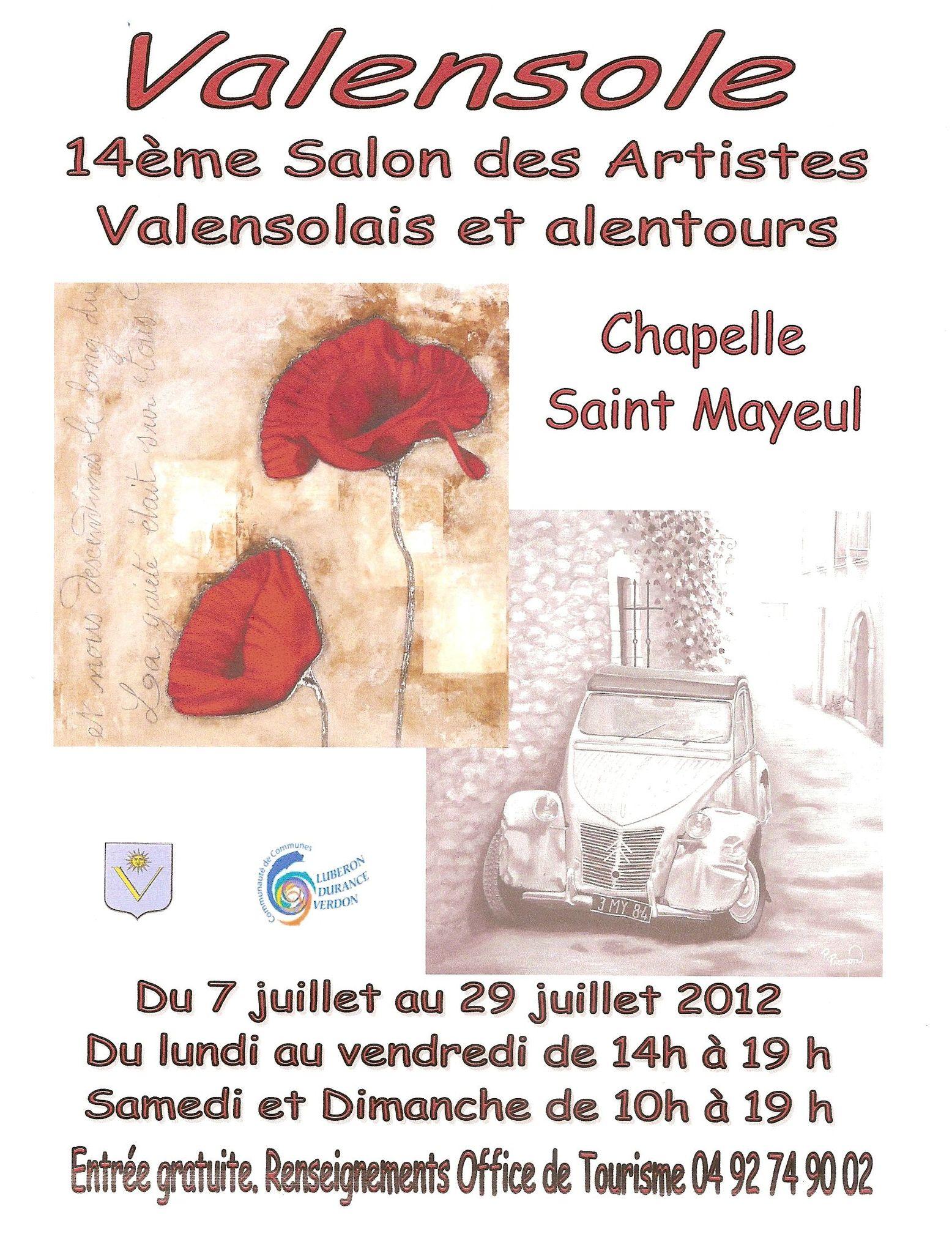 Affiche Salon de Peintures 2012