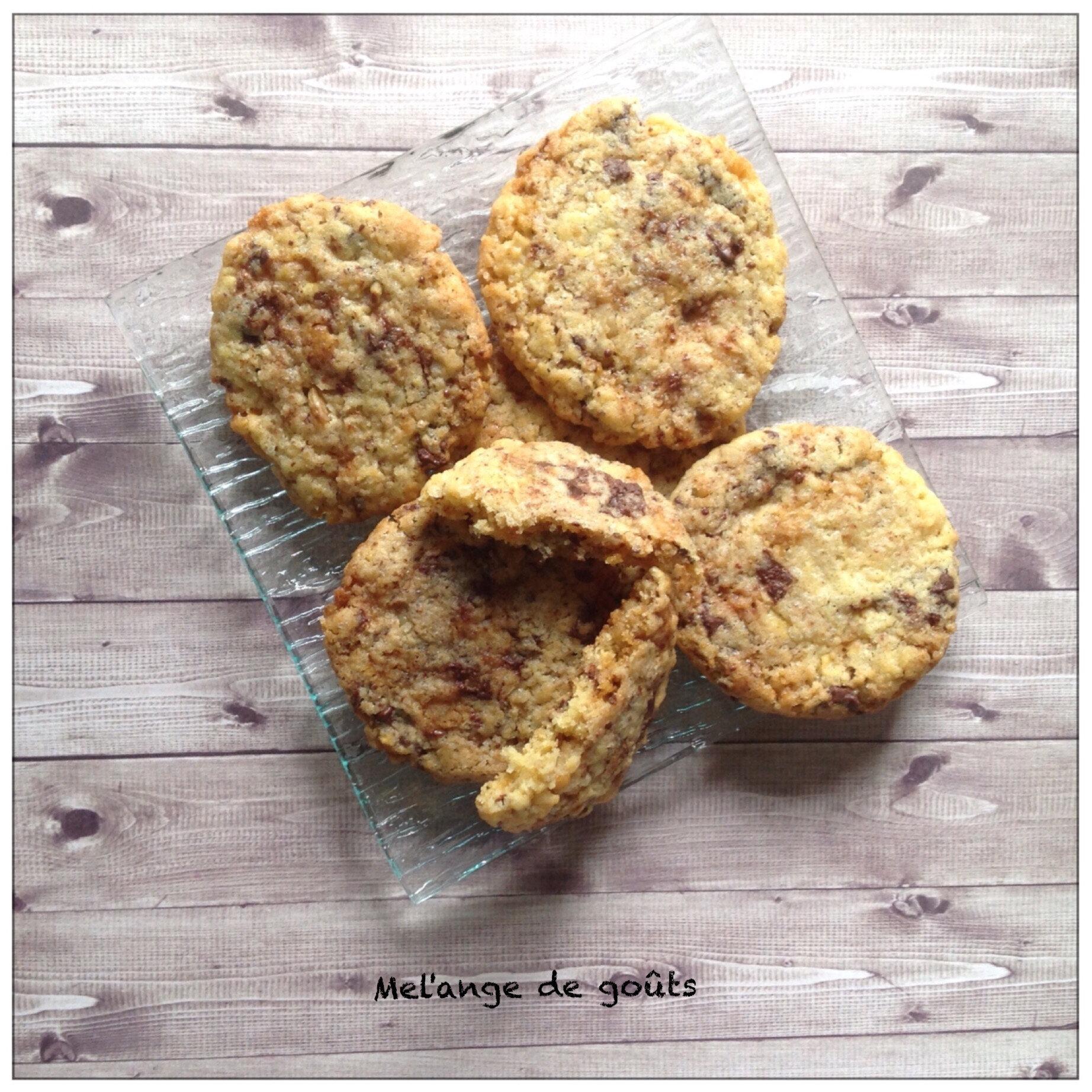 Cookies chocolat noix caramélisées