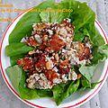 Nem thadeua, salade de riz croustillant à la noix de coco