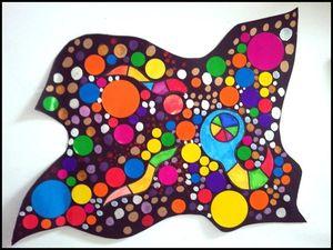 47_FORMES GEOMETRIQUES_à partir de Ensemble multicolore de Kandinsky réalisation (14cadre)