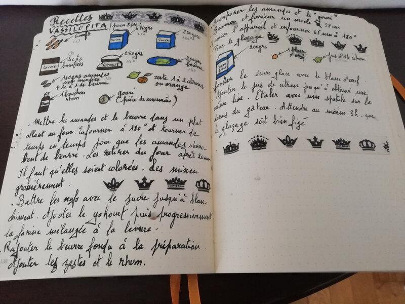 carnet de cuisine vassilopita