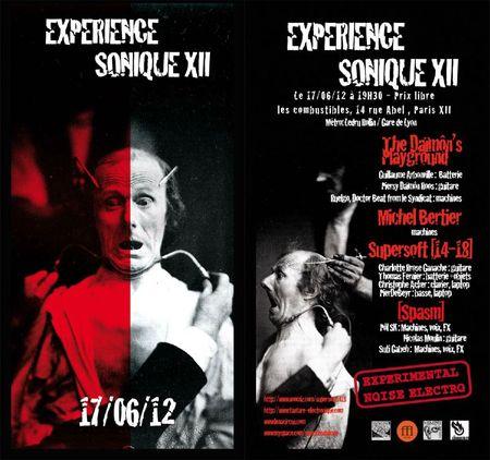 EXPERIENCE SONIQUE XII 17 juin 12