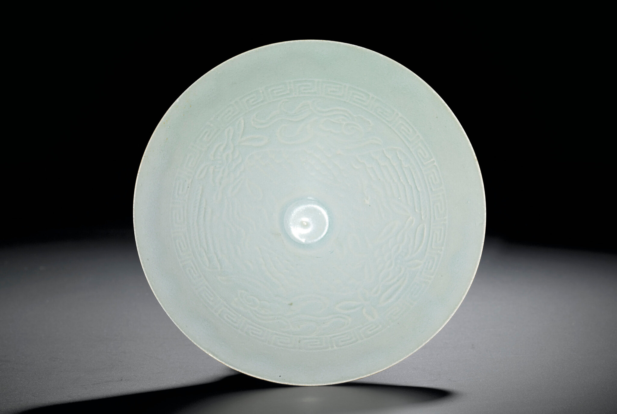 A Qingbai moulded 'Phoenix' bowl, Song dynasty (960-1279)
