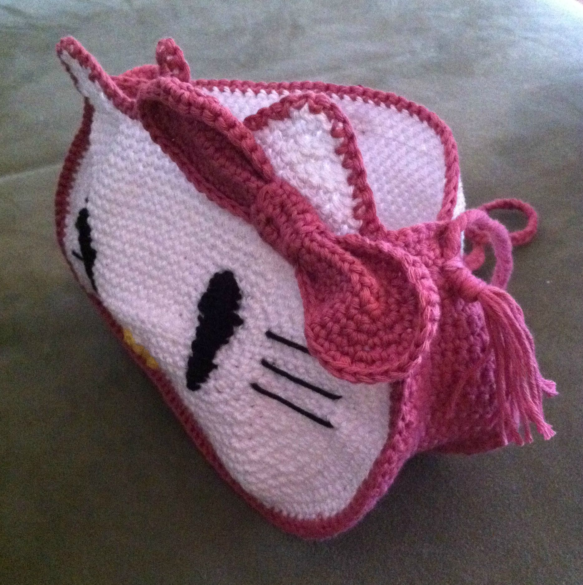 Sac Hello Kitty ouvert....