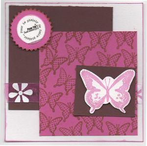 Carte papillon