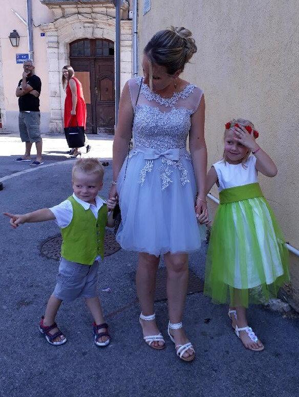 thème imposé pour le mariage : vert et blanc, mariage bio quoi !!!