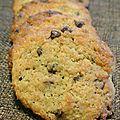 Cookies à la noix de coco et chocolat