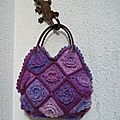 SAC EN CROCHET 22 CARREAUX