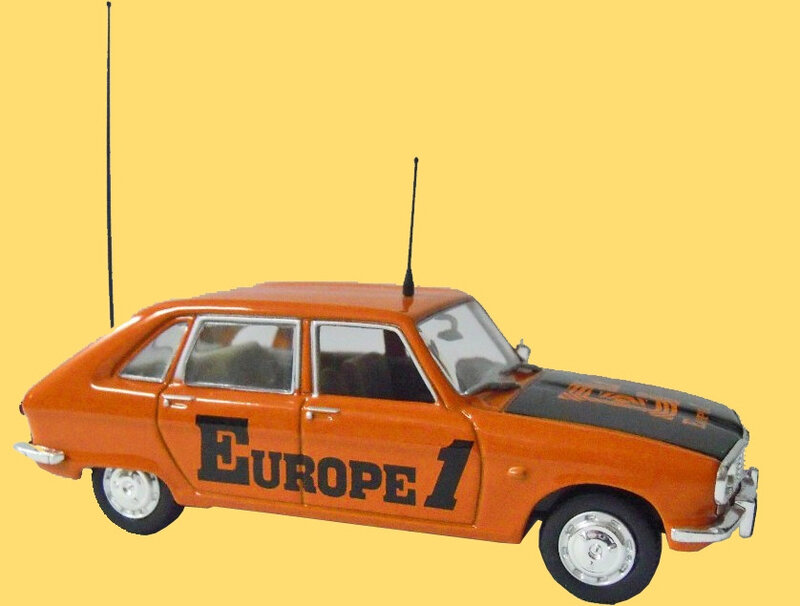 Miniature Tour de France 1969 R16 Renault Europe 1