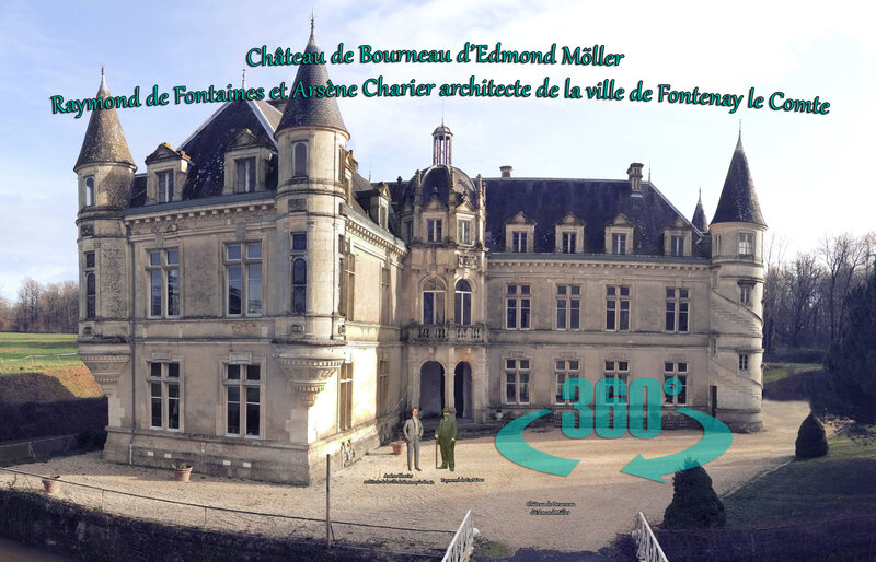 Château de Bourneau d'Edmond Möller - Raymond de Fontaines et Arsène Charier architecte de la ville de Fontenay le Comte