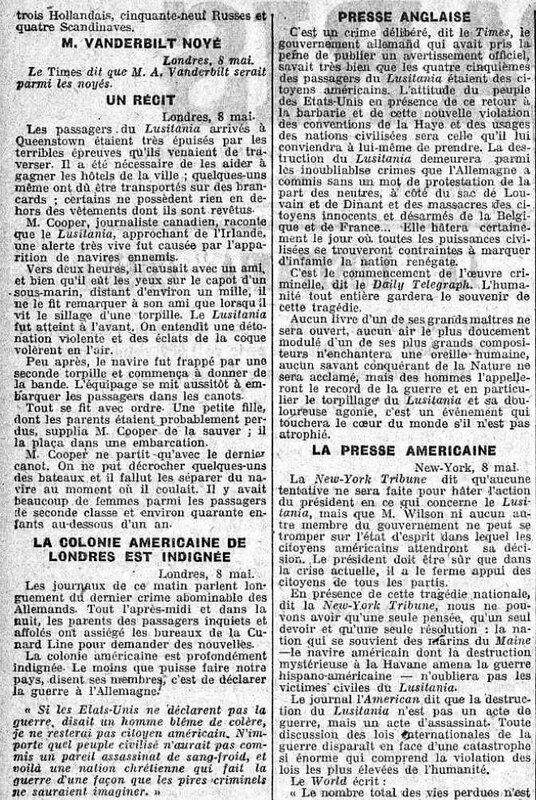 Echo de Paris Lusitania3