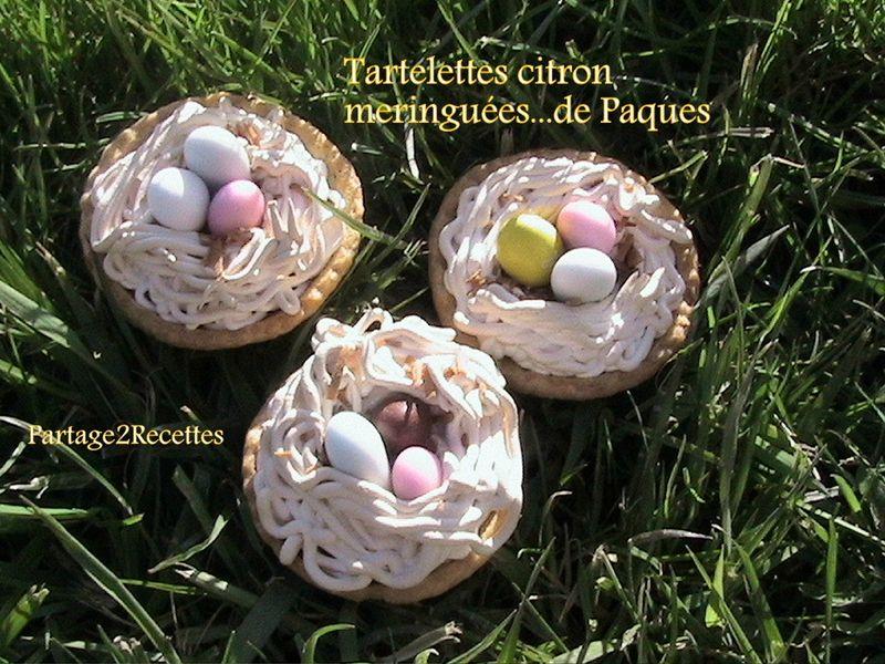 Tartelettes au citron meringuées...de Paques