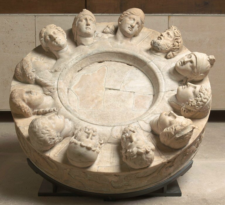 'Altar' with Zodiacal Frieze and Heads of the Twelve Gods