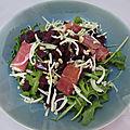 Salade de betterave et jambon cru
