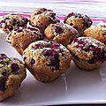 Briochettes comme un muffin framboises, vanille et pavot