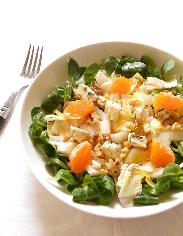 salade d'endives au bleu noix et agrumes2