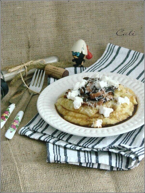 Polenta, Champignons & Fromage de Chèvre 001