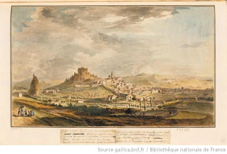 Le Puy en Velay gravure de Meunier