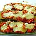 Courgette farcies tomates mozzarella