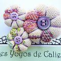 Les yoyos de calie - broche fleurs potirons sarah-lou