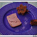 Foie gras de canard pain d'epices au miel et aux figues raisins, givre de sel