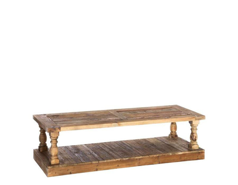 grande table basse bois massif