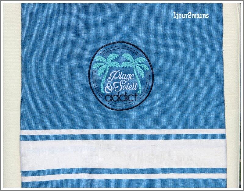 fouta bleu plage et soleil addict