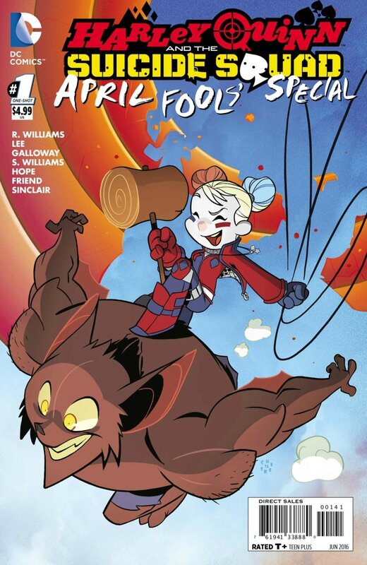 new 52 harley quinn and the suicide squad april fool's special variant