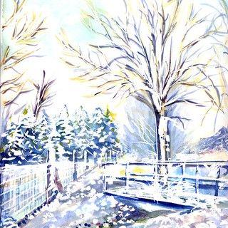 Paysage D Hiver En Picardie Domi Dessins Et Peintures