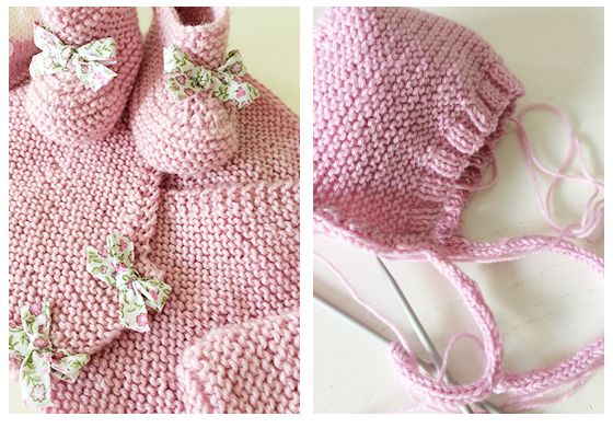 tricot Rose Cote passion
